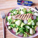 Salade met makreel peer en radijs