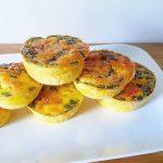 Koolhydraatarme ei muffins met zalm