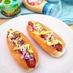 Vegan wortel hotdogs