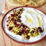 Labneh met granaatappel en pistache