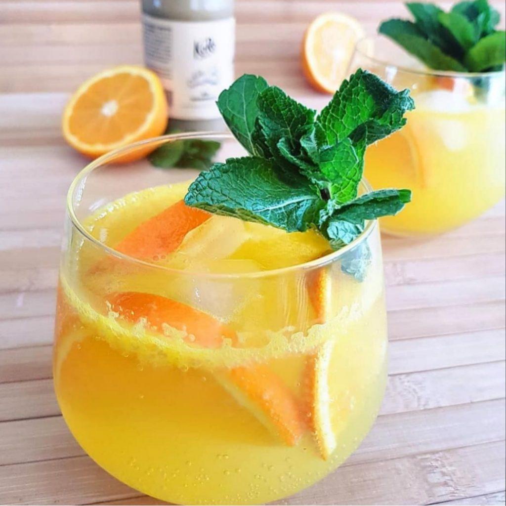 sinaasappel gember mocktail